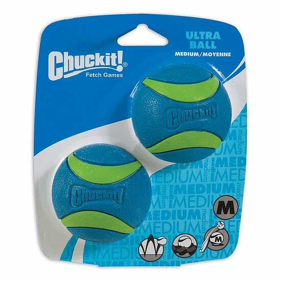 Bild 1 - Chuckit Ultra Ball Medium 2-Pack blau/grün