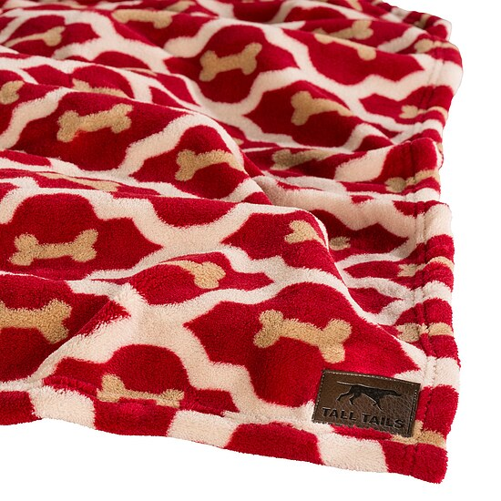 Bild 1 - Tall Tails Fleece Decke Red Bone