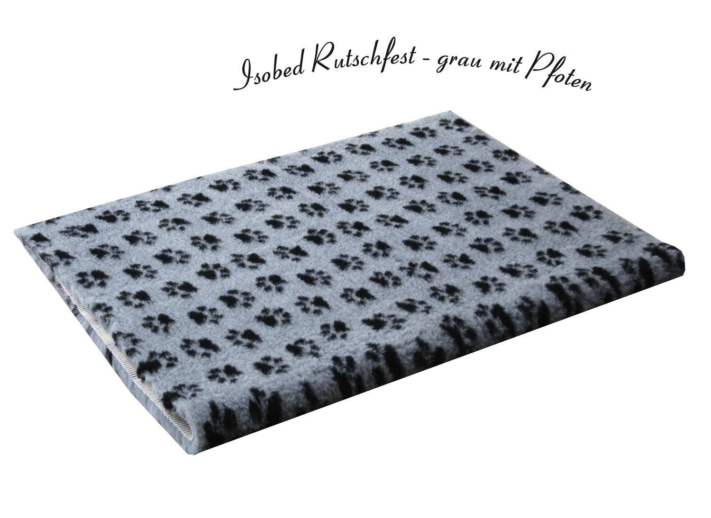 isobed rutschfest grau mit pfoten hund freizeit. Black Bedroom Furniture Sets. Home Design Ideas