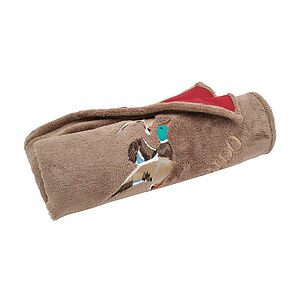 Antihaar Outdoor Hundedecke Enten cappuccino/bordeaux
