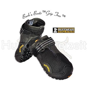 Ruff Wear Bark n Boots Grip Trex 4er Set schwarz