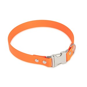 Biothane Halsband Clip 19mm orange (Restposten)