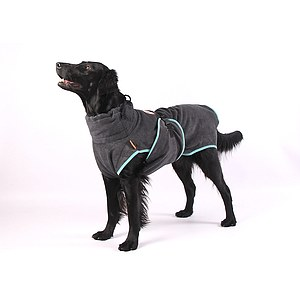 Hundemantel Chillcoat Hundebademantel anthrazit