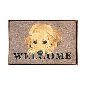 Otter House - Fußmatte Yellow Labrador Welcome
