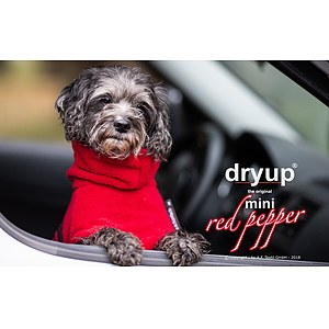 Hundemantel Dryup Cape Mini Red Pepper