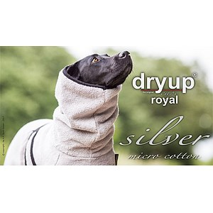 Hundemantel Dryup Cape Royal Silver