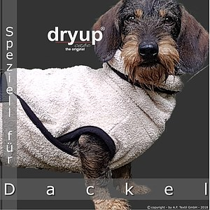 Hundemantel Dryup Cape Dackel sand