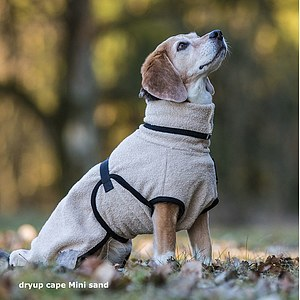 Hundemantel Dryup Cape Mini sand