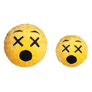 FabDog Cross Eyed Emoji Ball mit Quietscher
