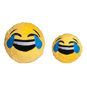 FabDog Crying Laughing Emoji Ball mit Quietscher