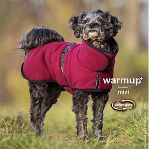 Hundemantel Warmup Cape Plus mini bordeaux