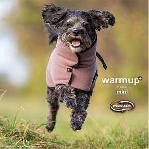 Hundemantel Warmup Cape Plus mini mocca