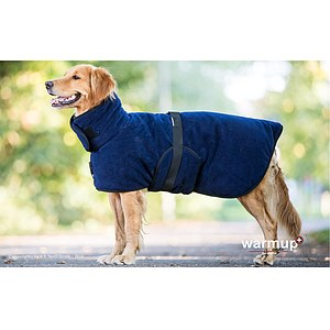 Hundemantel Warmup Cape Plus blau