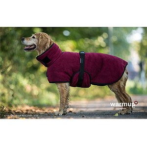 Hundemantel Warmup Cape Plus bordeaux