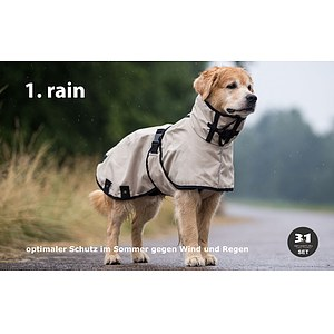 Multifunktionaler Hundemantel 3in1 Cape SET sand