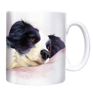 Kaffee Tasse - Border Collie liegend