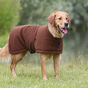 Hundemantel Warmup Fleece/Frottee