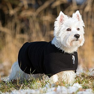 Hundemantel Warmup Fleece/Frottee mini schwarz