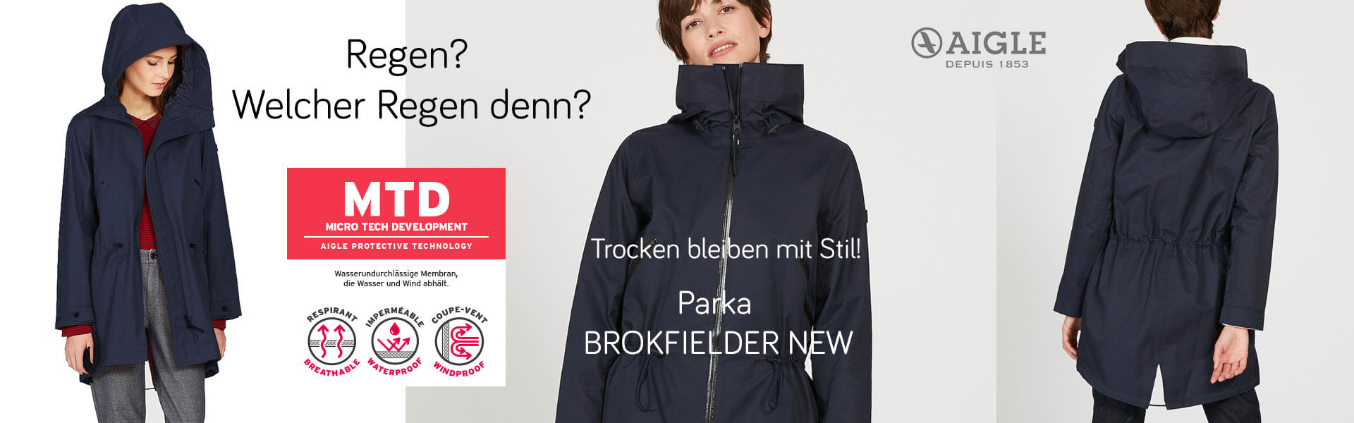 Aigle Brokfielder New Damen Jacke dark navy